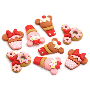 Kawaii Simulation Cookies Flatback Resin Food Cabochon For Phone Deco Hair Bow Diy Scrapbook Embellishment
