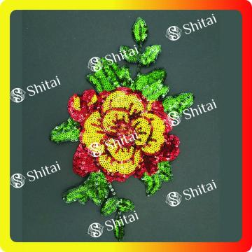 OEM Blumen Pailletten Patch