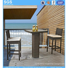Outdoor Bar Furniture Rattan Bar Table and Stools