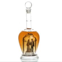 faits à la main unique en forme de bouteille de vin en verre personnalisé