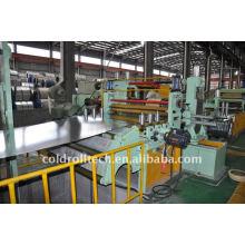 Linha de alta velocidade linha de corte resistente para a bobina da chapa de aço para cortar bobinas da hora CR