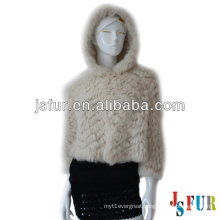 2014 lovely ivory warm hotsale wholesale rabbit fur jacket