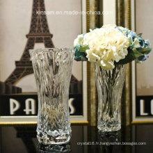 Vase en verre de cristal moderne en verre pour la décoration