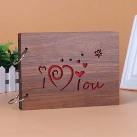 Customize Wooden Commemorative Photo Album Loose-leaf Album