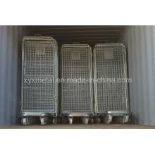Cage de chariot à rouleaux en acier à 4 côtés