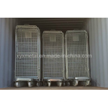 4 Sides Security Steel Wire Roll Trolley Cage