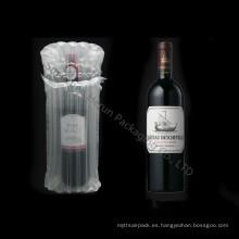 Promoción bolsas inflables de aire de la columna para la botella de vino