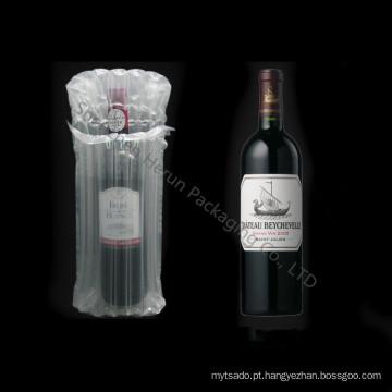 Bolsas de ar infláveis promocionais coluna para garrafa de vinho