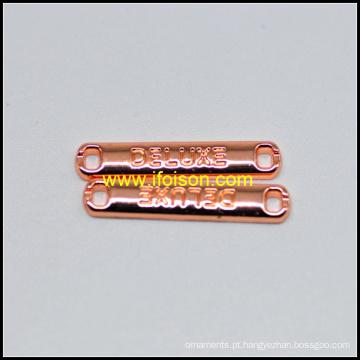Sew cobre brilhante na placa para o vestuário