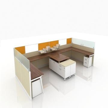 Office desk cubicle L shape workstation