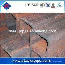 100 * 100 tubería de acero cuadrado hueco secciones materiales de construcción