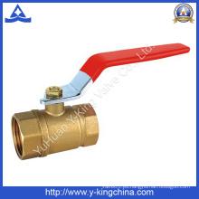 El precio al por mayor cerró la válvula de bola de cobre amarillo del agua (YD-1007)