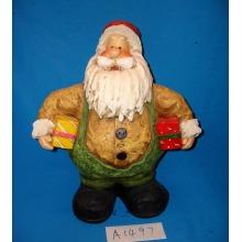 Funny Fat Santa com Presentes para Decoração de Natal