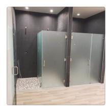 Panneau de verre de porte de cabine de douche sans cadre personnalisé