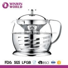 Vidro claro elegante do grupo de chá com logotipo
