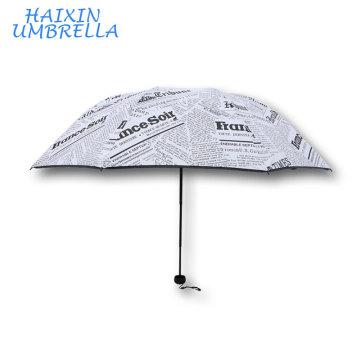 Best Selling Items Personality Fashion English British Style Newspaper Wholesale Custom Umbrella Chinese
