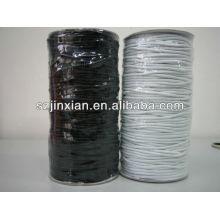Cordón elástico blanco y negro