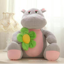 Juguete de animal salvaje suave Juguete de peluche gigante lindo hipopótamo para niños