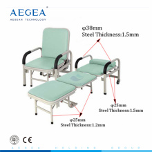 AG-AC001 steel power coated hospital folding medical accompany chair