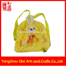 Boa qualidade personalizado crianças mochila escola crianças coelho animal cabeça mochila de pelúcia