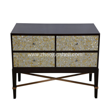 Manufactur standard for Mother of Pearl Furniture, Mother of Pearl Furniture direct from Jiujiang Tengjun Shell Arts and Crafts factory in China (Mainland) CANOSA 2016 Golden mother of pearl inlaid wood Storage Cabinet living room furniture export to Samo