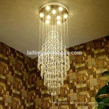 Iluminación comercial de la escalera de la lámpara de la gota de agua de Navidad para la decoración del sitio casera