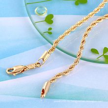 Мода Золотое ожерелье кабеля