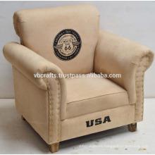 Sofá de lona estilo vintage