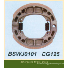 non-asbestos CG125 brake shoe for motorcycle