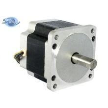 Motor paso a paso híbrido trifásico de alto torque de 85 mm con eje antióxido con ángel de 1.2 pasos