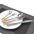 20PCS Wedding Party Dinnerware Set Stainless Steel Silver Plated Flatware Set Fork Knife Spoon Hotel Restaurant Cutlery Set