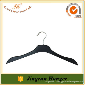 Avaliado Fornecedor Custom Made High-End Black Plastic Clothes Hangers