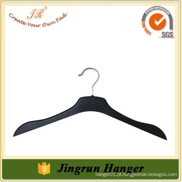 Avaliado Fornecedor Custom Made High-End Black Plastic Clothes Hangers