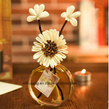 50ml Empty Oval Flower Aroma Reed Diffuser Glass Bottle
