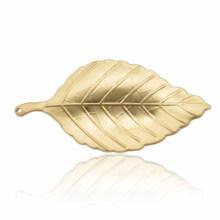 Moda de aleación de zinc plateado y chapado en oro Broche de hojas para dama