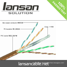 LANSAN 1000ft hohe Geschwindigkeit 4 Paar utp cat6 lan Kabel 100% Fluke pass UL ANATEL Genehmigung