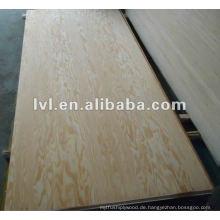 Kiefer Gesicht und Rücken Möbel Sperrholz Platte