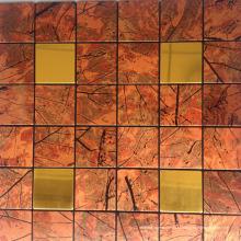 Цена франко завод Открытый стены и украшении пола стеклянная мозаика плитка