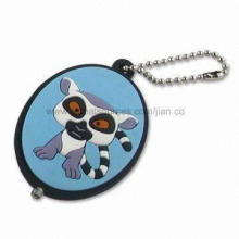 PVC Keychain with LED Light, Customized Logo Designs, Shapes, Colors and Sizes are Welcomed