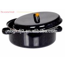 manija del esmalte y estante del acero inoxidable de la olla del asado del esmalte del acero de carbono