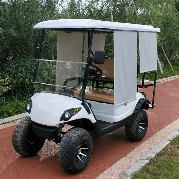 electric golf cart  with 2 rear seats