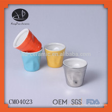wholesale ceramic cup,mini porcelain cup,drink cup,ceramic cup,color glazed cup