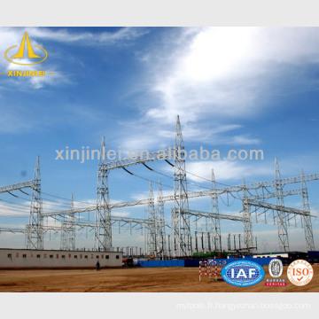 Ligne de transmission Structures encastrées en acier