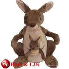 Brown color dos juguete de peluche de canguro bebé