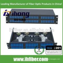 48 puertos Fijo Rack-mount Fibra óptica Patch Panel / mini ODF / caja de terminales
