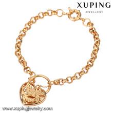 Bracelete popular do amor do ouro da forma 18K do coração 74554-Xuping com alta qualidade