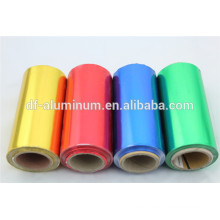 colored aluminium foil roll for hairdressing salon dyeing