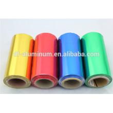 Rolo colorido de folha de alumínio para tinturaria de salão de cabeleireiro