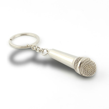 Personality Microphone Shape Design Metal Keychains for Gift