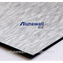 Alunewall A2/B1 grade fireproof Brush color Aluminum plastic composite panel 20 year warranty